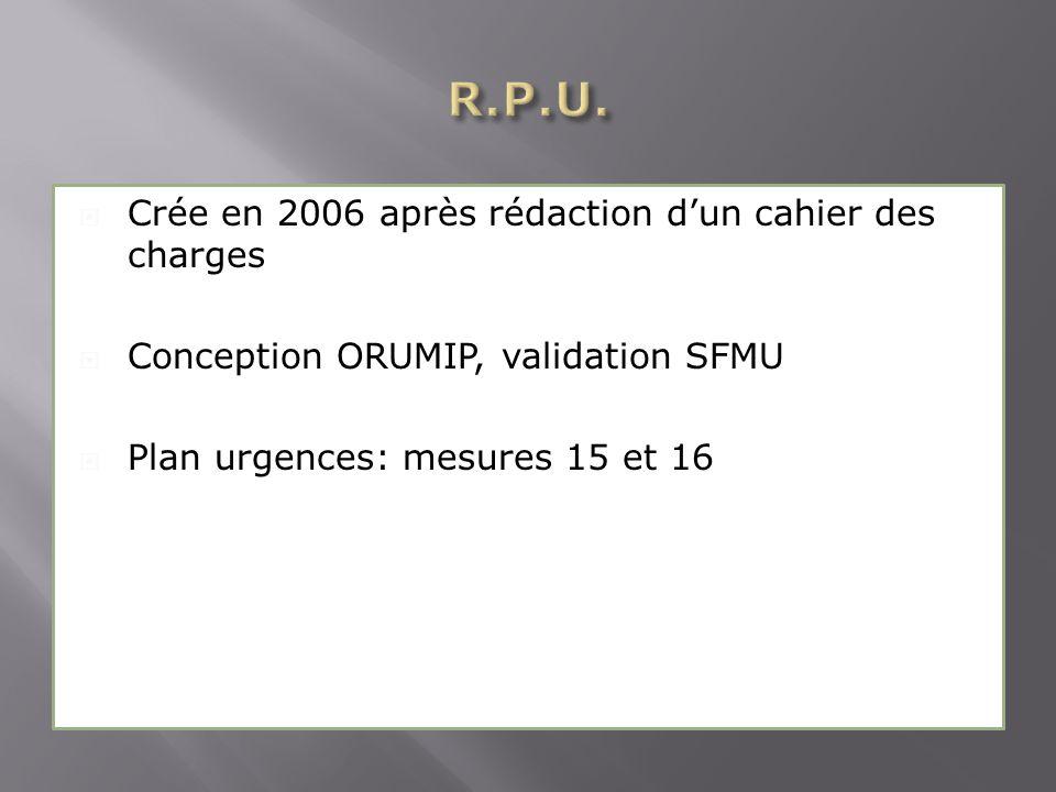 R.P.U. Crée en 2006 après rédaction d'un cahier des charges