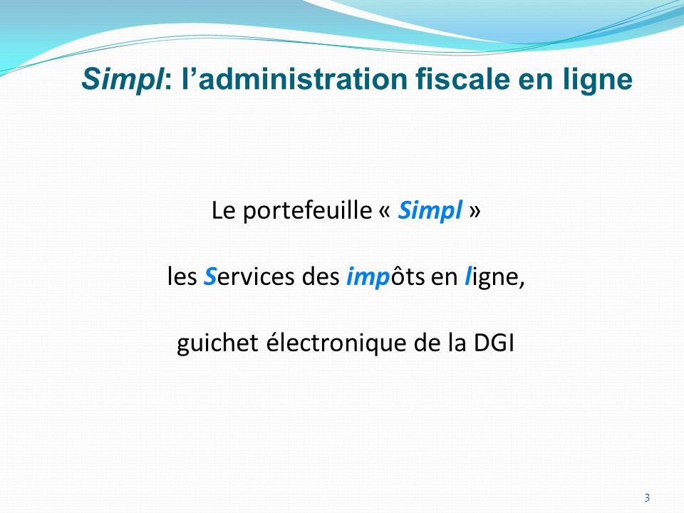 Simpl: l'administration fiscale en ligne