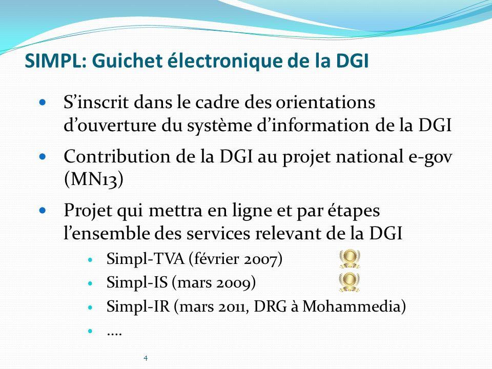 SIMPL: Guichet électronique de la DGI