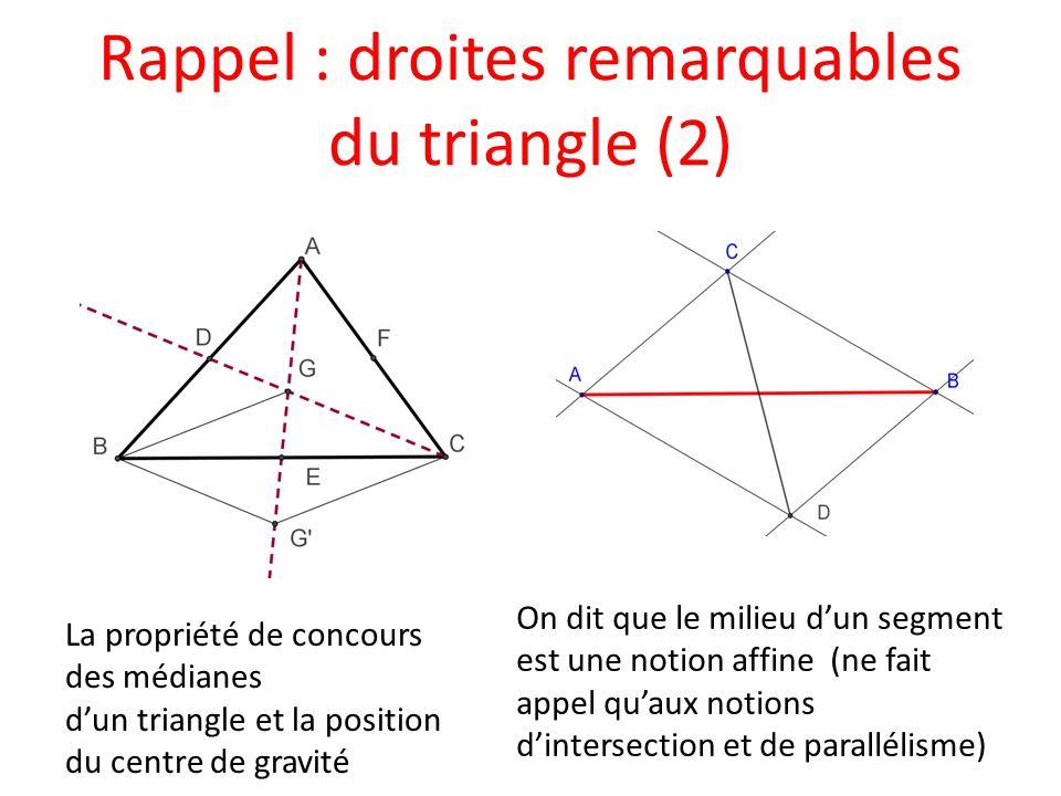 Rappel : droites remarquables du triangle (2)