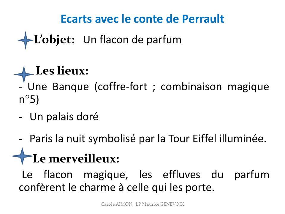Ecarts avec le conte de Perrault