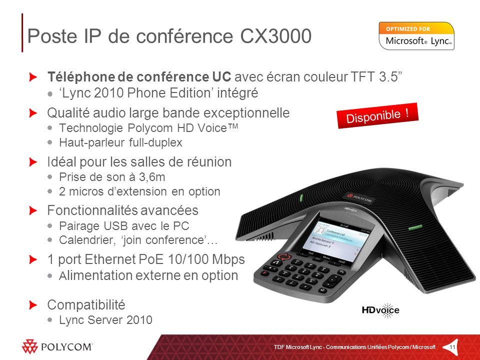 Poste IP de conférence CX3000