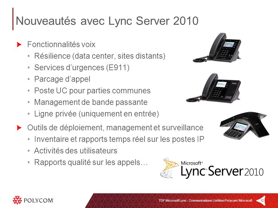 Nouveautés avec Lync Server 2010