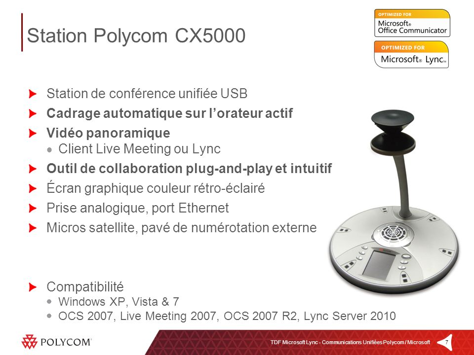 Station Polycom CX5000 Station de conférence unifiée USB