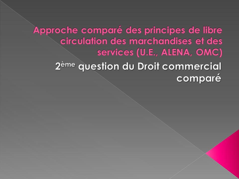 2ème question du Droit commercial comparé