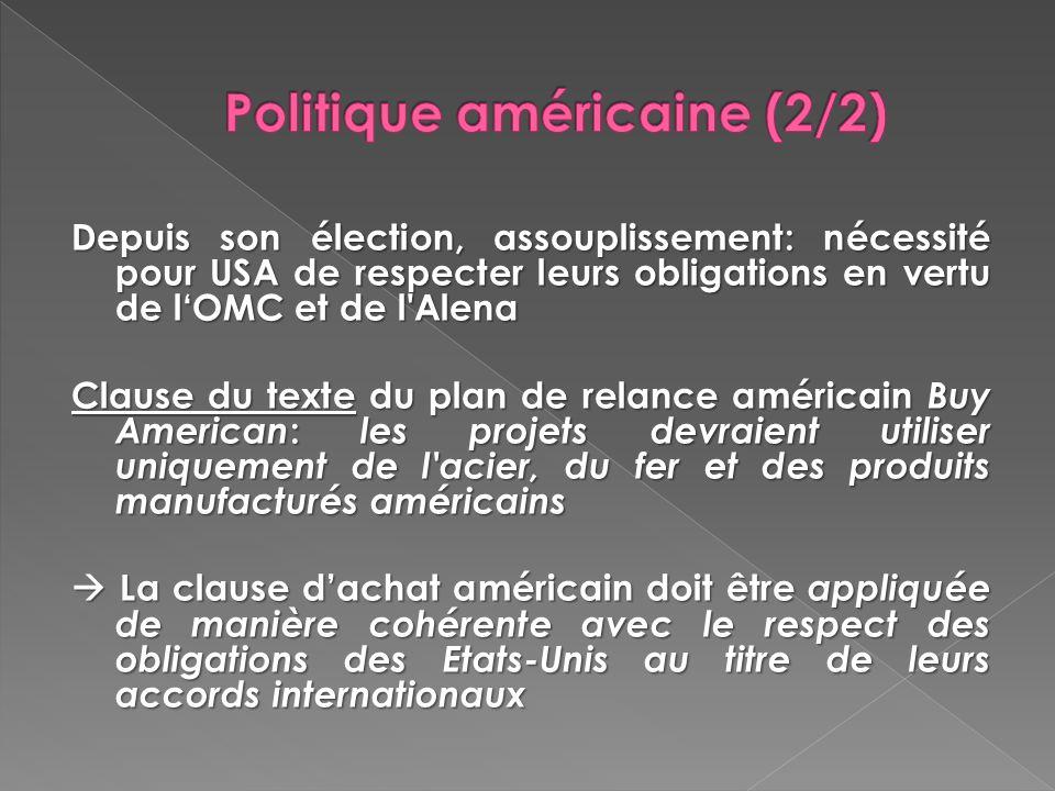 Politique américaine (2/2)