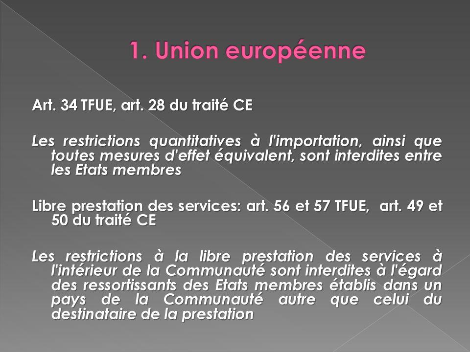 1. Union européenne
