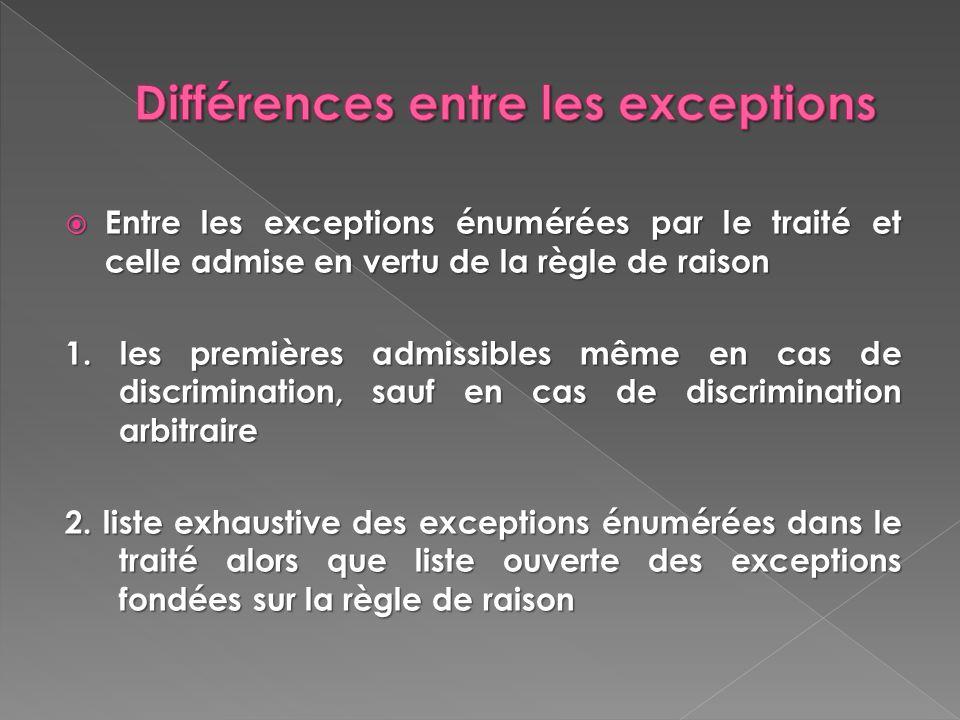 Différences entre les exceptions