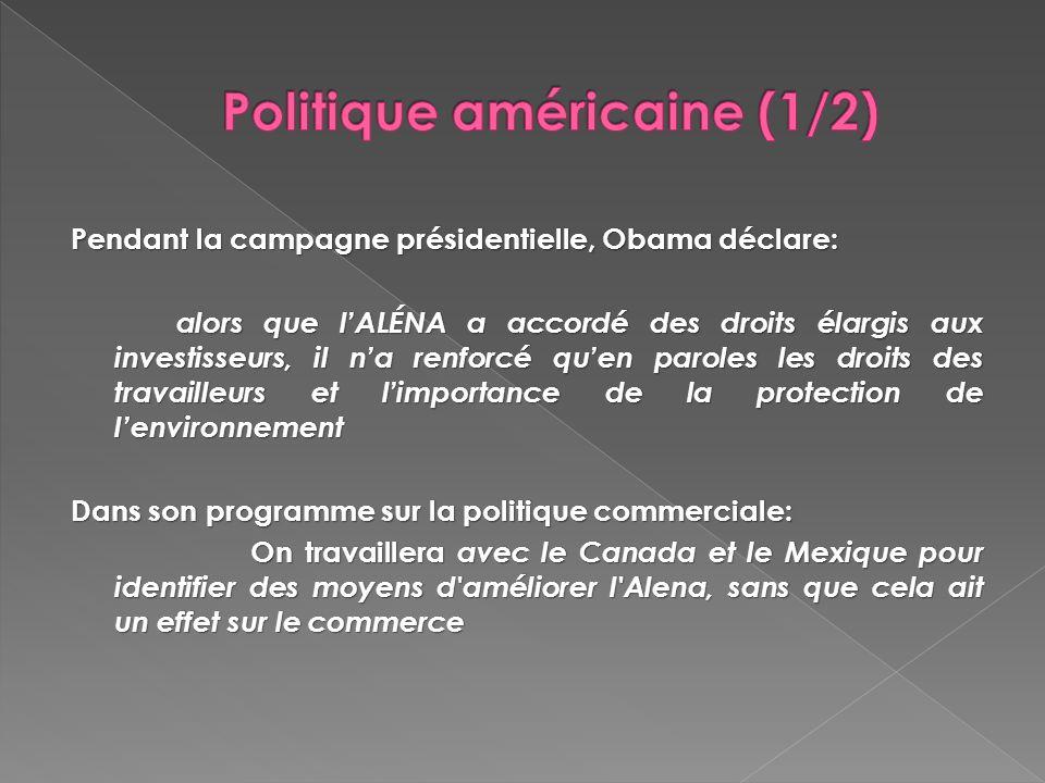 Politique américaine (1/2)