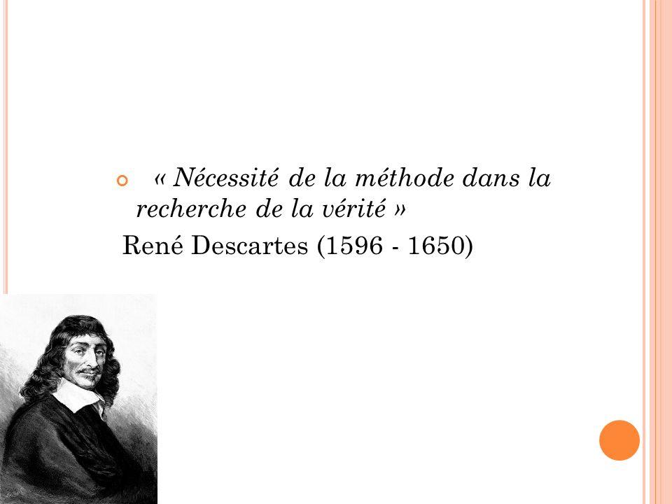 « Nécessité de la méthode dans la recherche de la vérité »