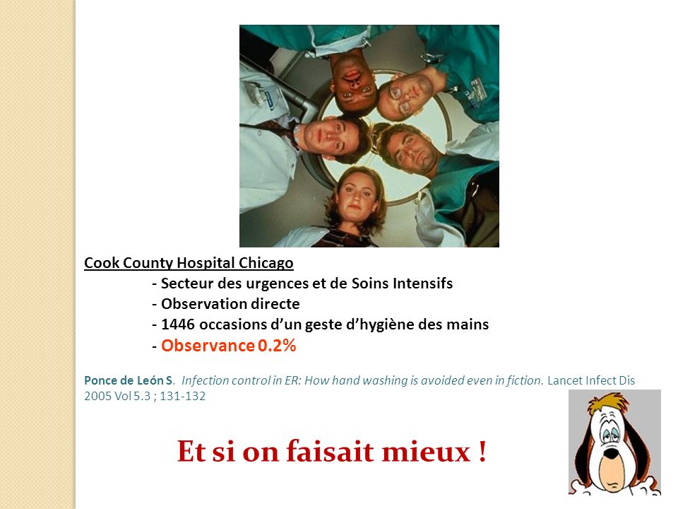 Et si on faisait mieux ! Cook County Hospital Chicago