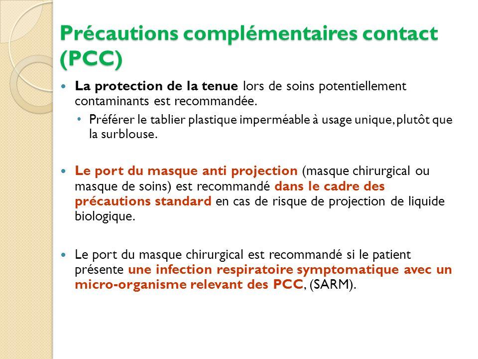 Précautions complémentaires contact (PCC)