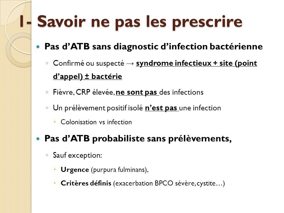 1- Savoir ne pas les prescrire