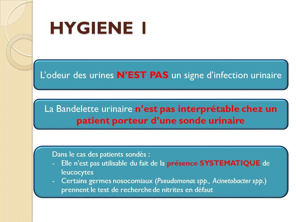 L'odeur des urines N'EST PAS un signe d'infection urinaire