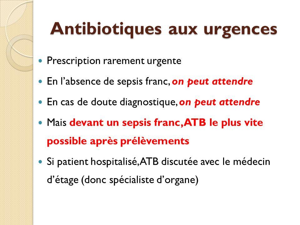 Antibiotiques aux urgences