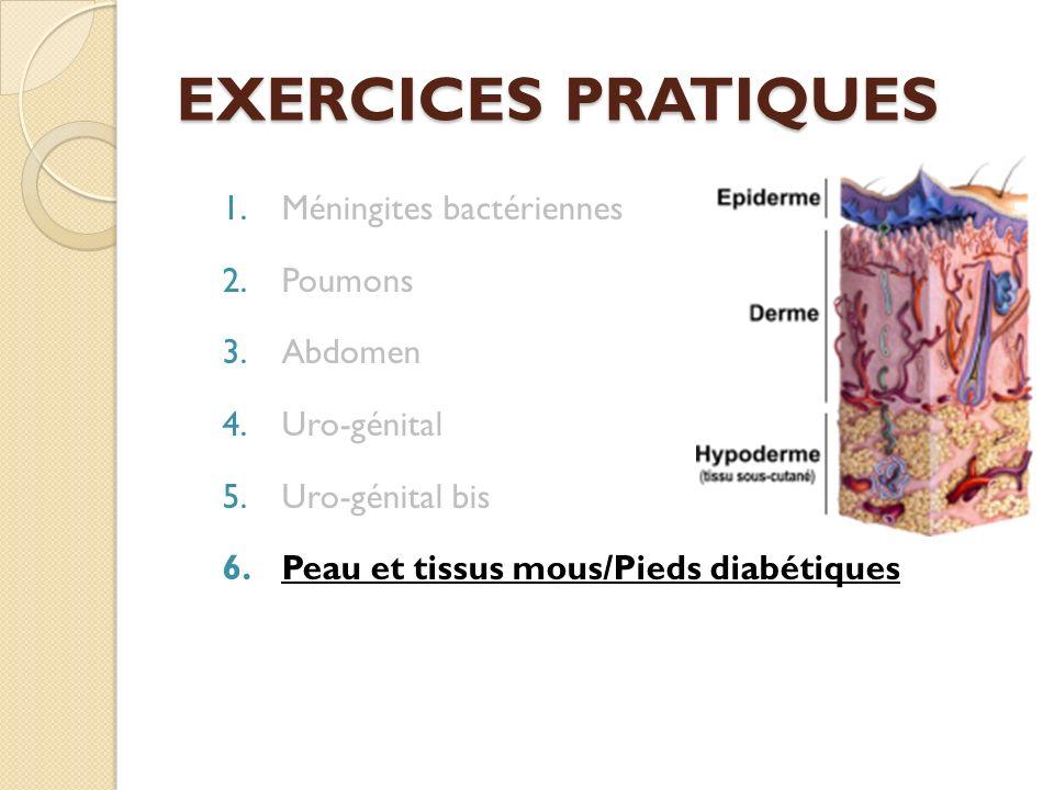 EXERCICES PRATIQUES Méningites bactériennes Poumons Abdomen