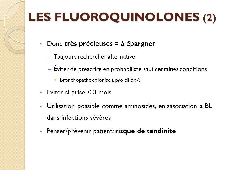 LES FLUOROQUINOLONES (2)
