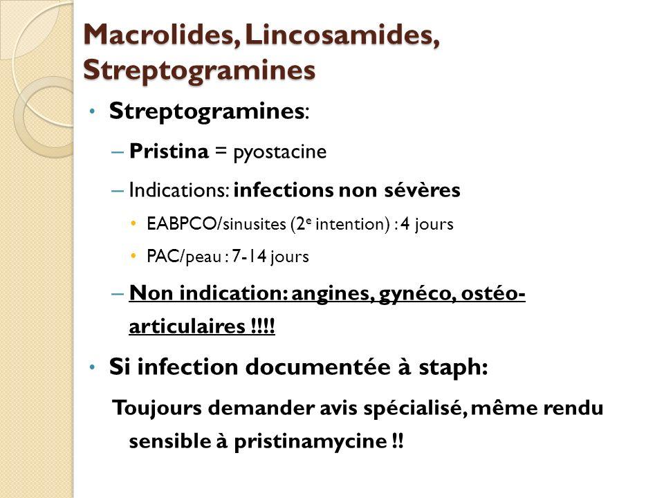 Macrolides, Lincosamides, Streptogramines
