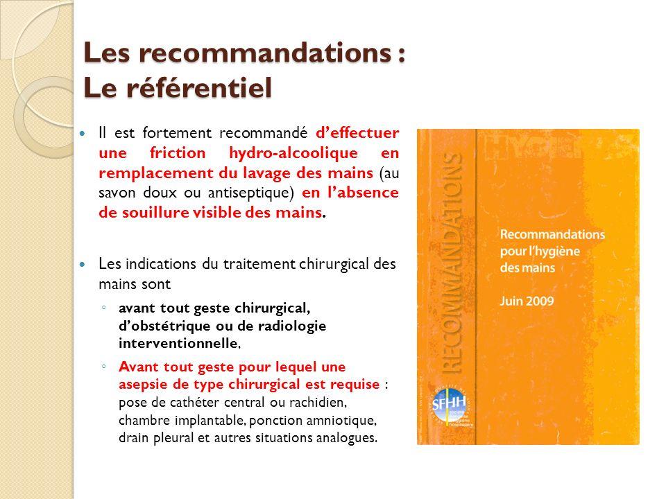 Les recommandations : Le référentiel