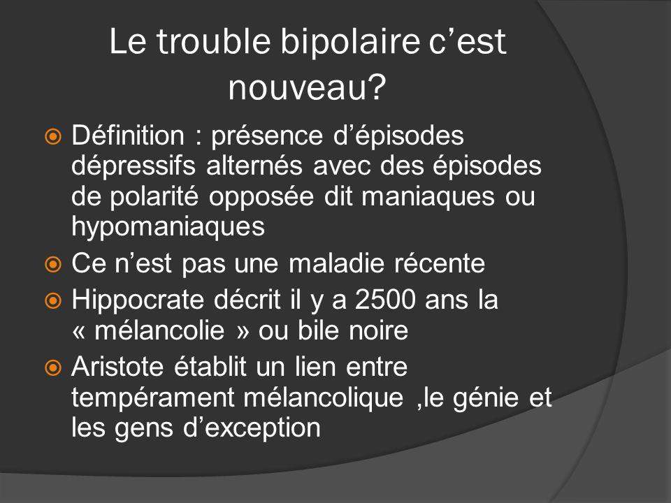 Le trouble bipolaire c'est nouveau