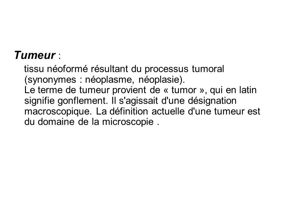 Tumeur :