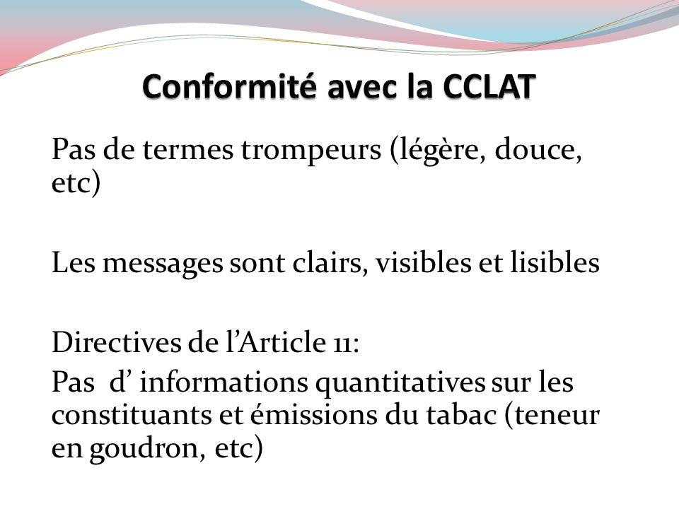 Conformité avec la CCLAT
