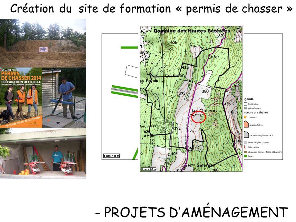 - PROJETS D'AMÉNAGEMENT