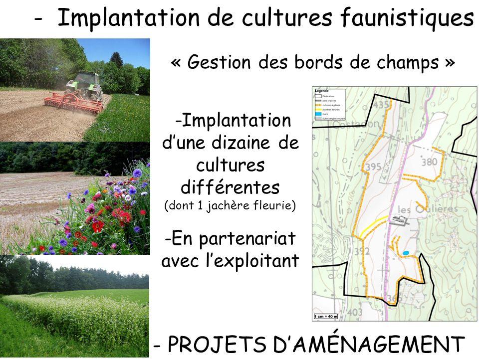 Implantation de cultures faunistiques