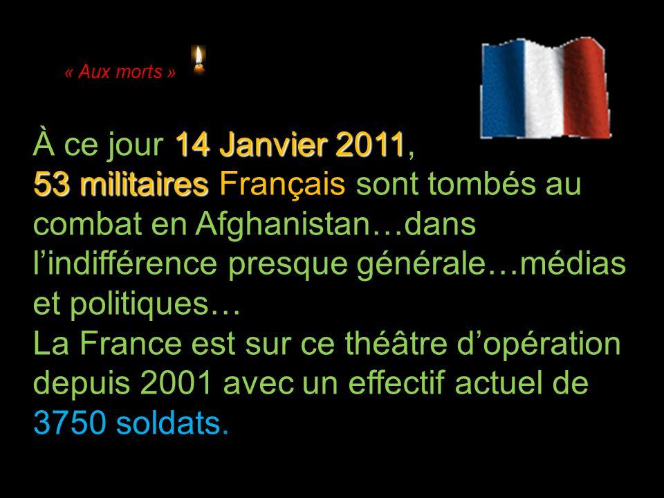 « Aux morts » À ce jour 14 Janvier 2011,
