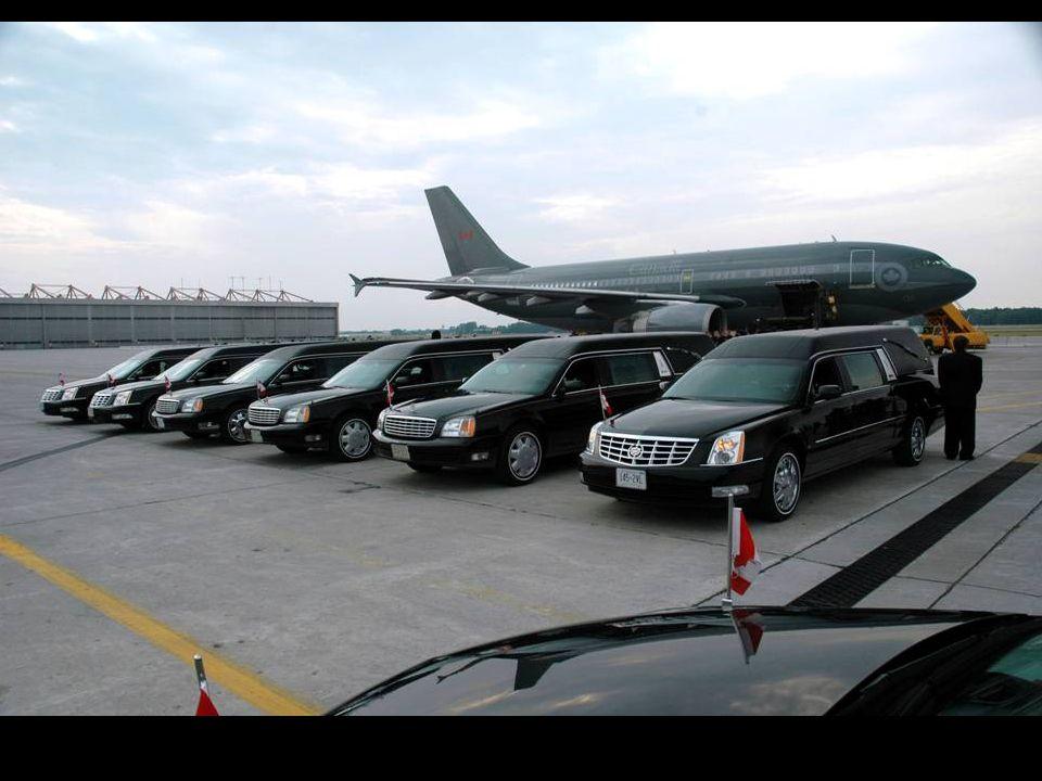 L'arrivée de l'avion