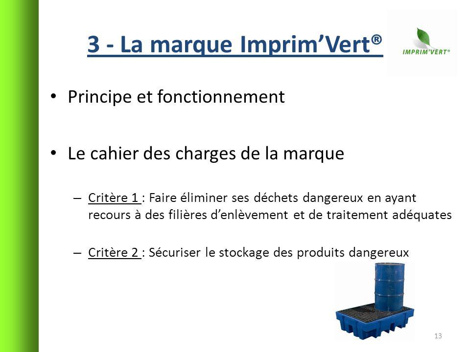3 - La marque Imprim'Vert®