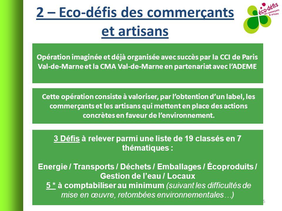 2 – Eco-défis des commerçants et artisans