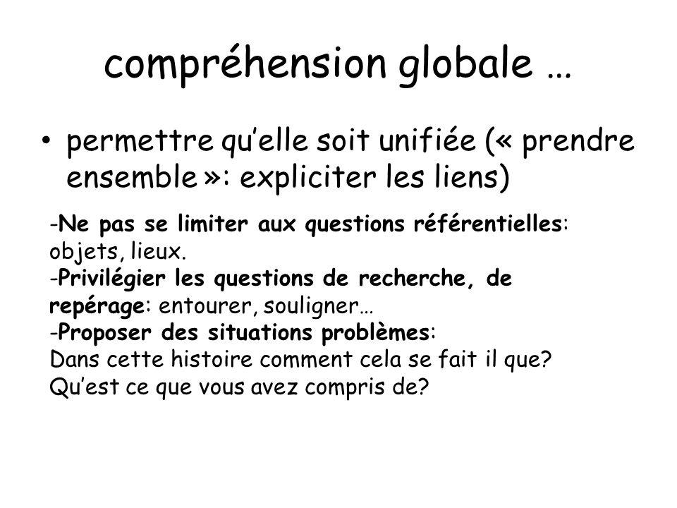 compréhension globale …