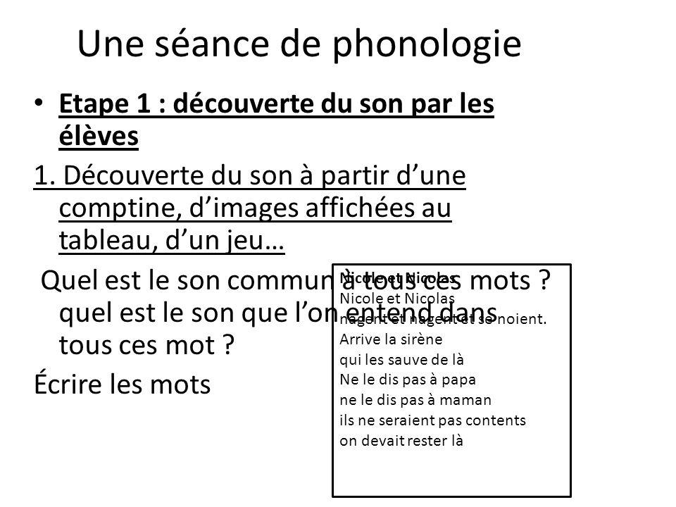 Une séance de phonologie