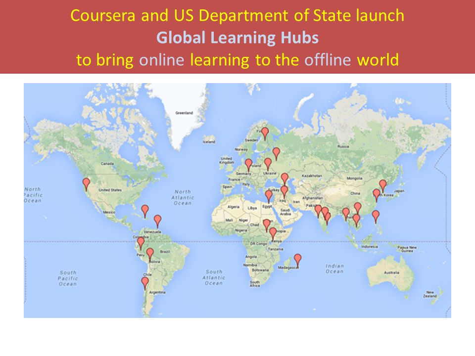 Coursera and US Department of State launch Global Learning Hubs to bring online learning to the offline world