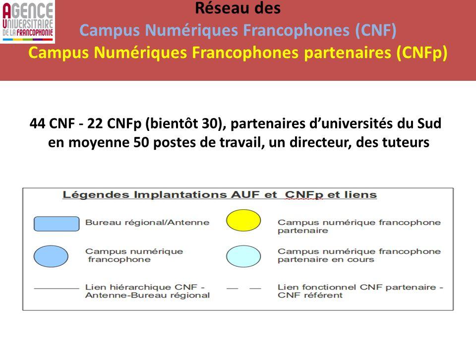 Réseau des Campus Numériques Francophones (CNF) Campus Numériques Francophones partenaires (CNFp)