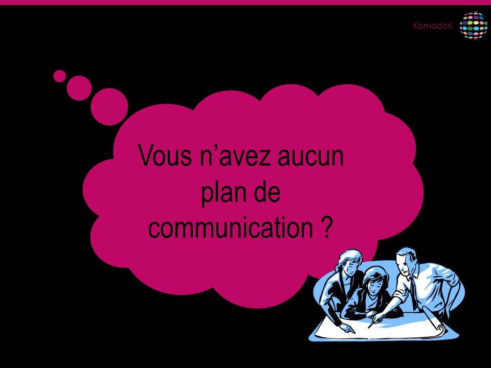 Vous n'avez aucun plan de communication