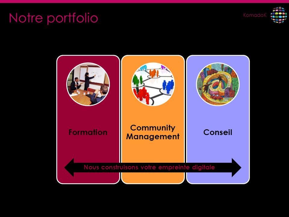 Notre portfolio Formation Community Management Conseil