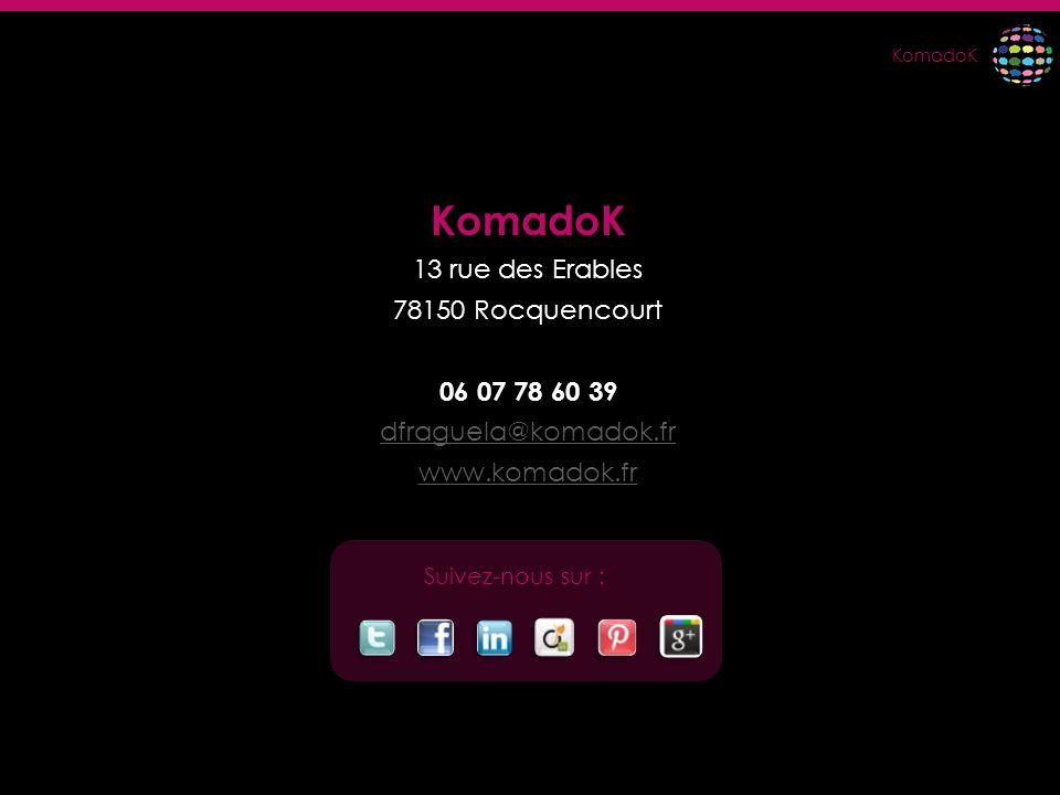 KomadoK 13 rue des Erables 78150 Rocquencourt 06 07 78 60 39