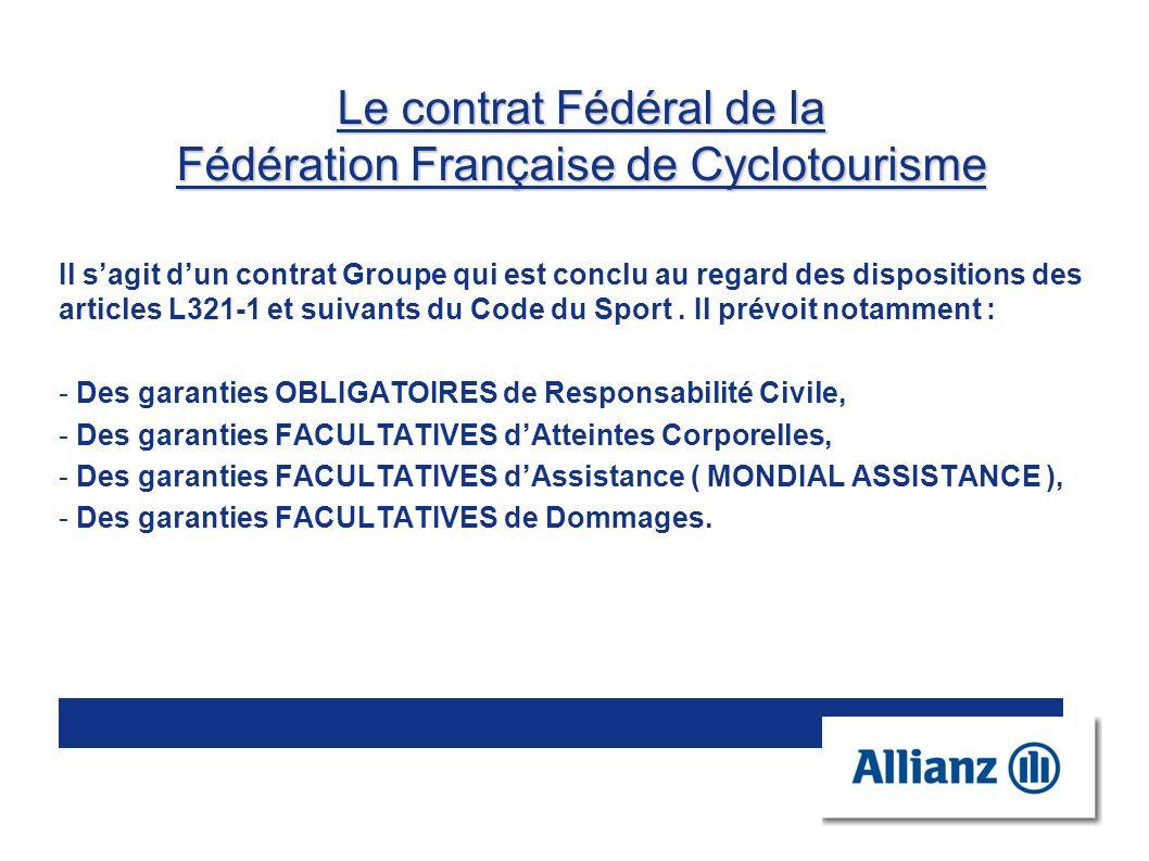Le contrat Fédéral de la Fédération Française de Cyclotourisme