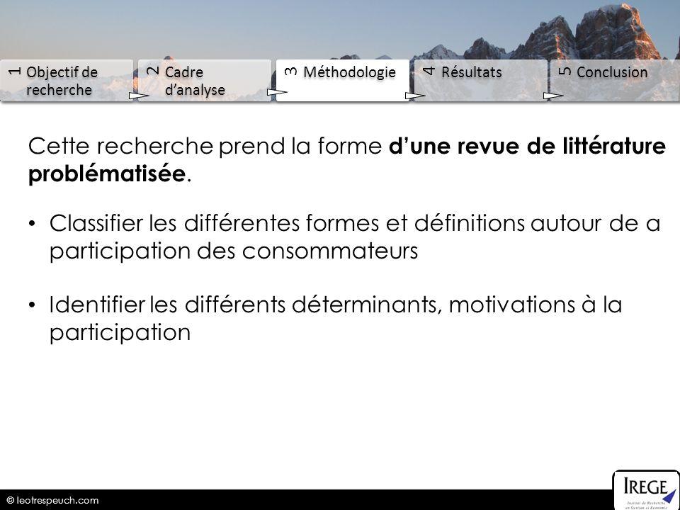 Identifier les différents déterminants, motivations à la participation