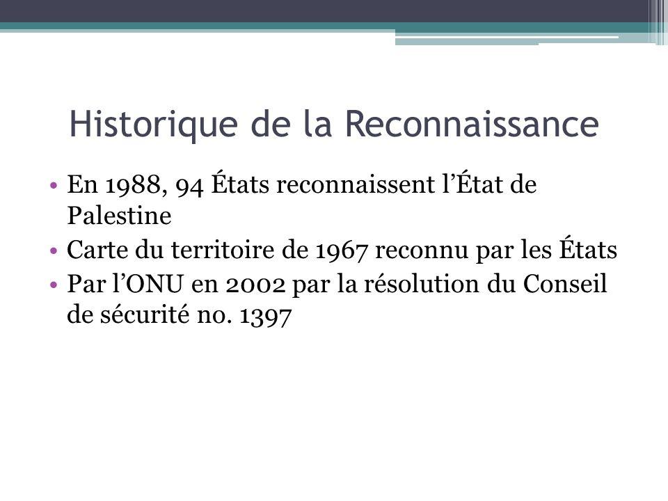 Historique de la Reconnaissance