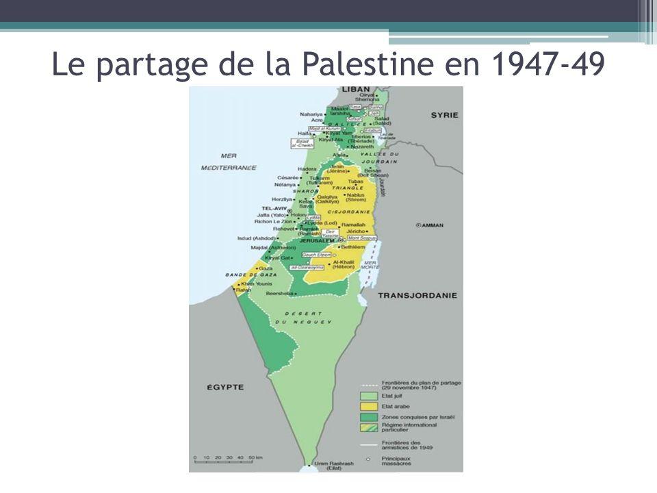 Le partage de la Palestine en 1947-49
