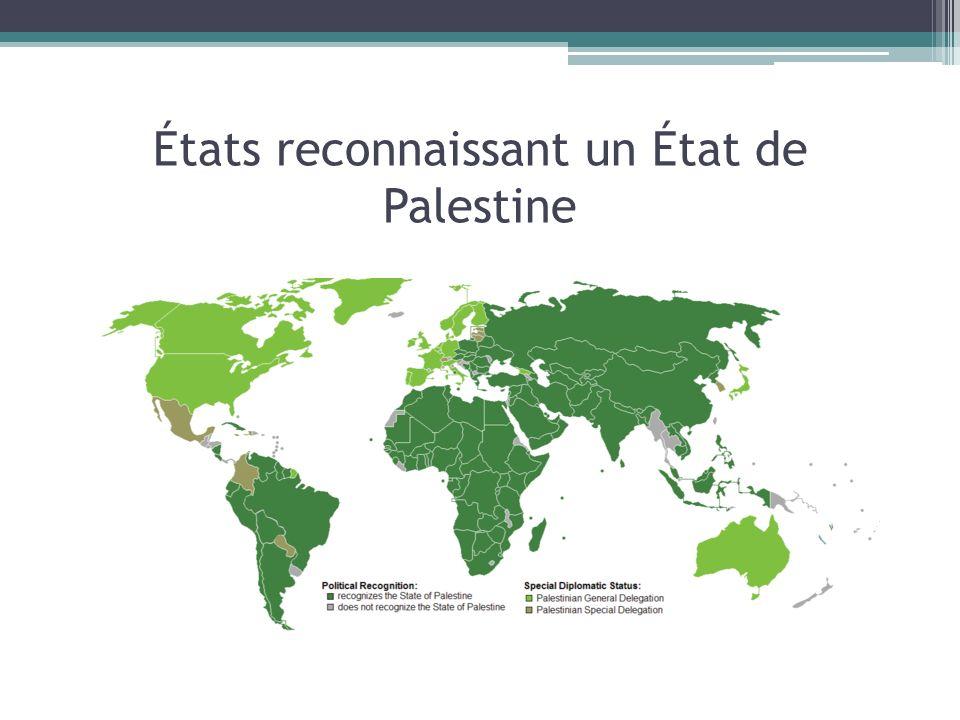 États reconnaissant un État de Palestine