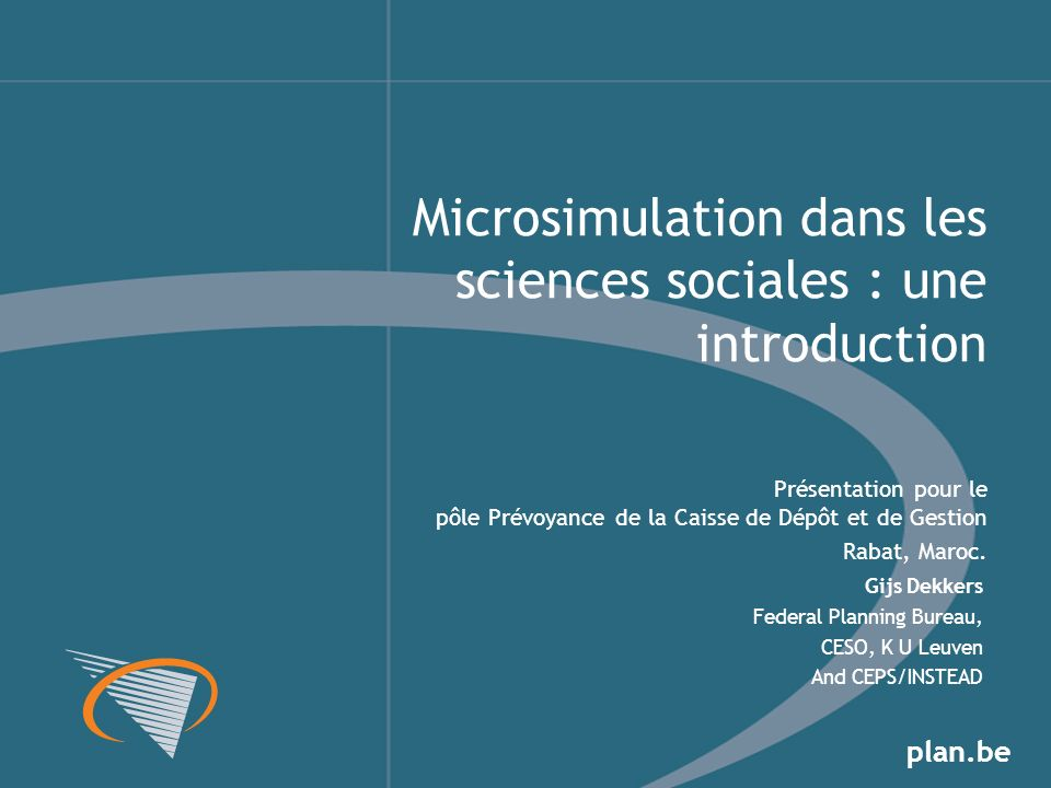 Microsimulation dans les sciences sociales : une introduction