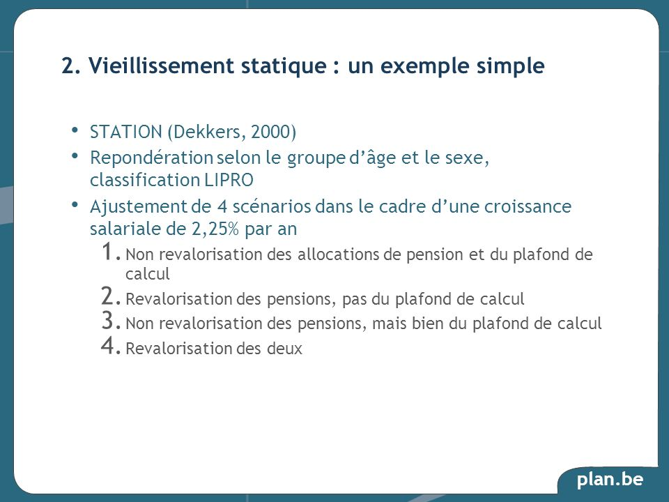 2. Vieillissement statique : un exemple simple