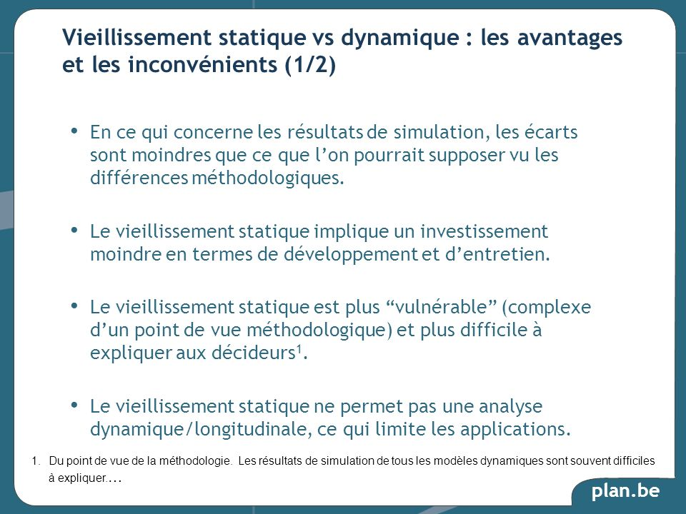 Vieillissement statique vs dynamique : les avantages et les inconvénients (1/2)