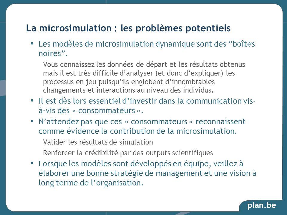 La microsimulation : les problèmes potentiels