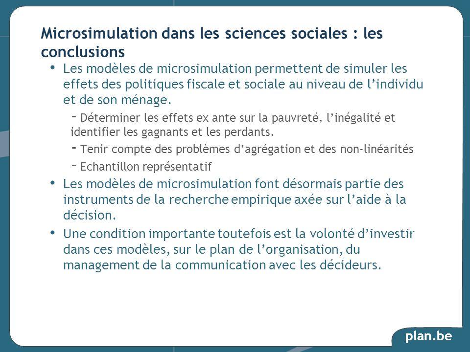 Microsimulation dans les sciences sociales : les conclusions