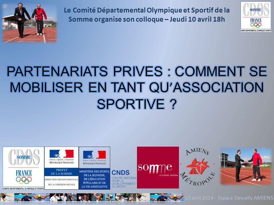 Le Comité Départemental Olympique et Sportif de la Somme organise son colloque – Jeudi 10 avril 18h